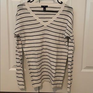 Black and White Striped Sweater- Lightweight